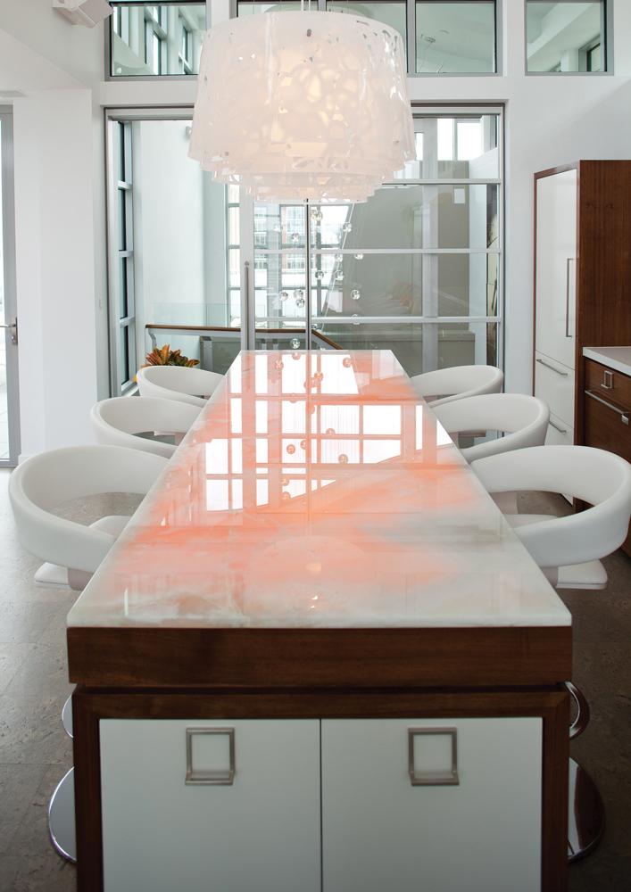 via design - dining room light