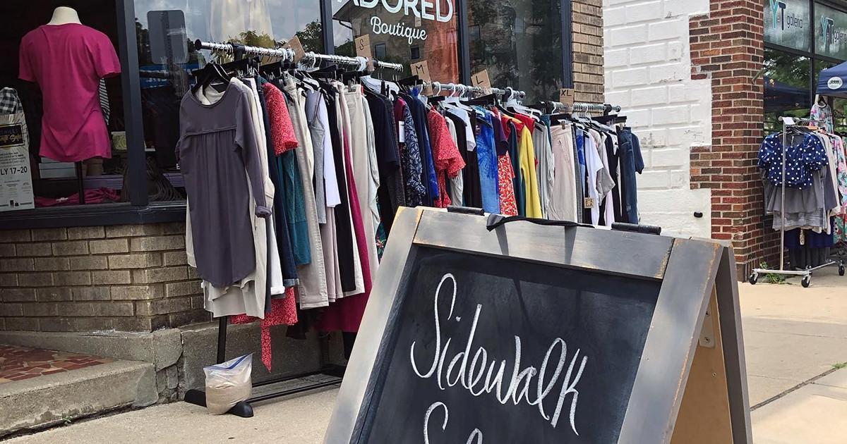 East Hills Grand Rapids sidewalk sale Adored Boutique