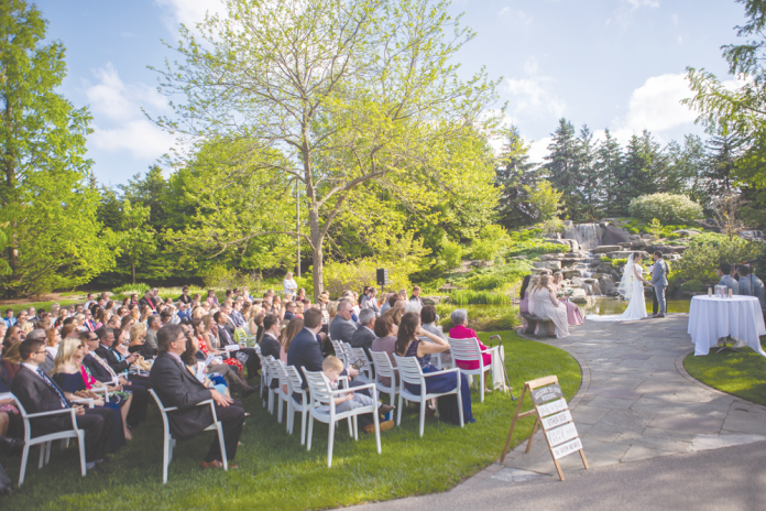 Frederik Meijer Gardens & Sculpture Park wedding ceremony. Courtesy Adam Bird_The People Picture Company