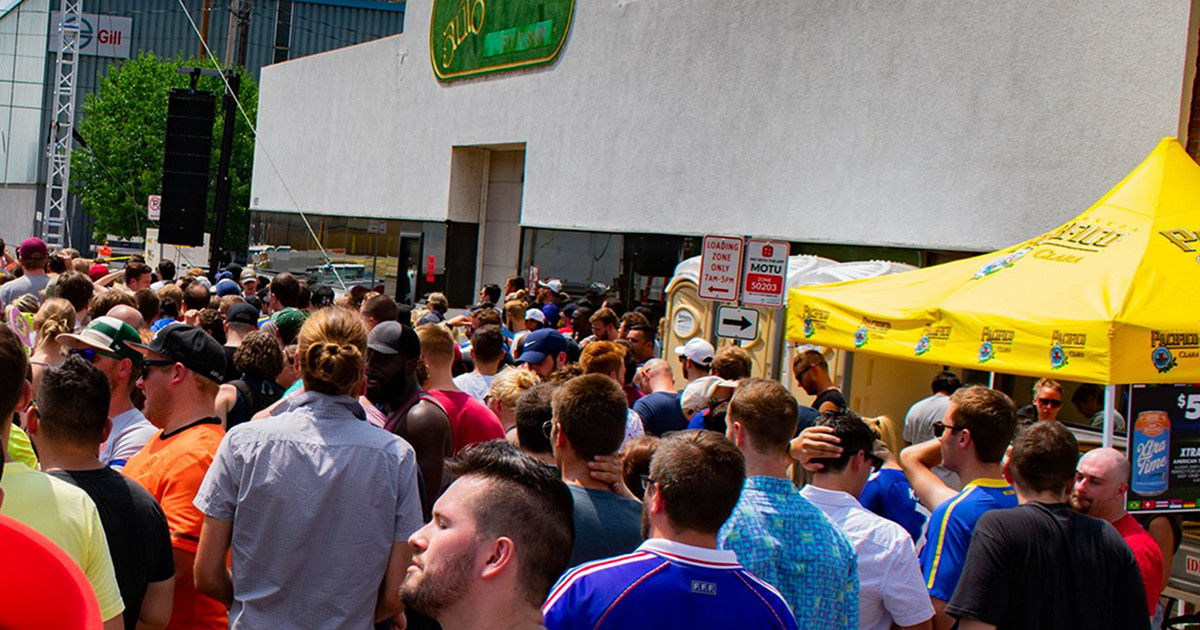 Garage Bar & Grill Women's World Cup Watch Party crowd