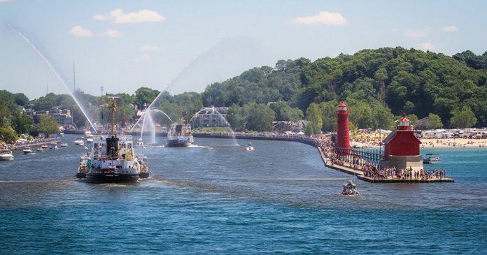 Grand Haven Coast Guard Festival ships pier