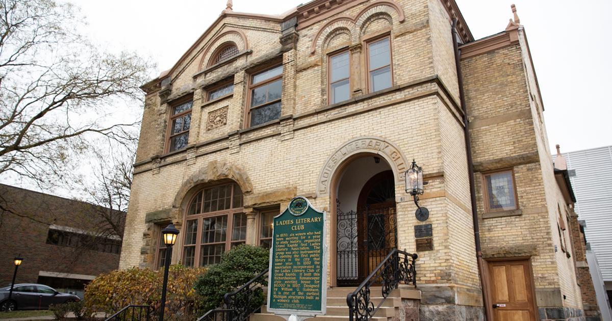 Ladies Literary Club building downtown Grand Rapids