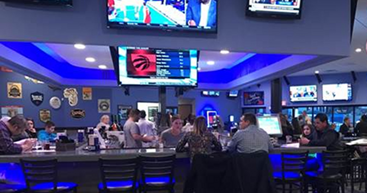 The Blue Moose Sports Pub partial interior