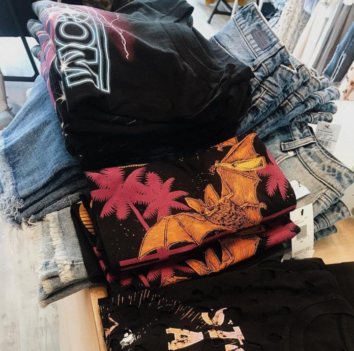 Marie La Mode T-shirts and denim shorts