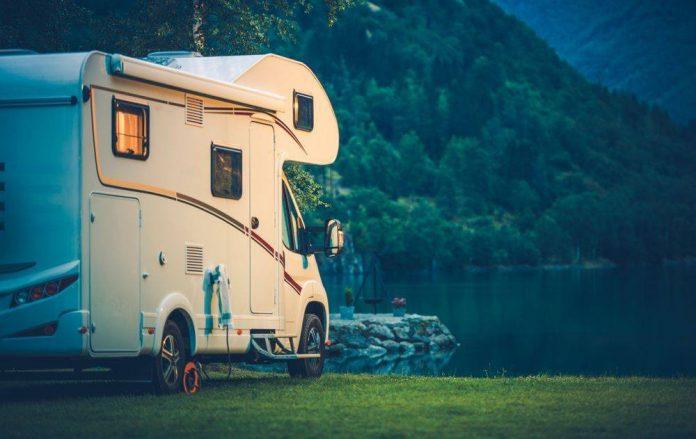 RV at lake RVshare
