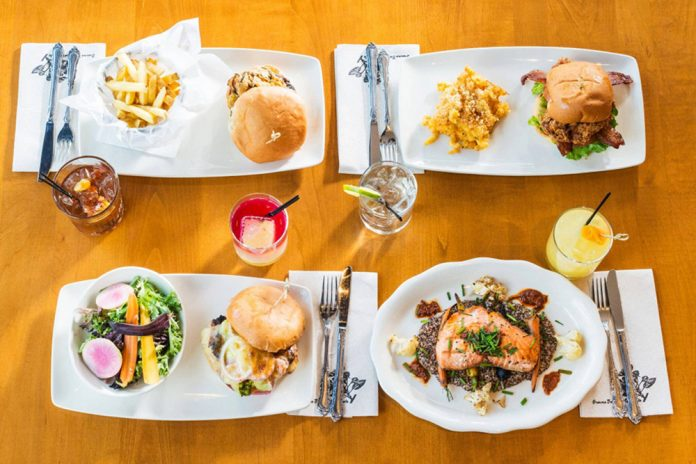 Tupelo Honey Southern Kitchen & Bar dishes on table