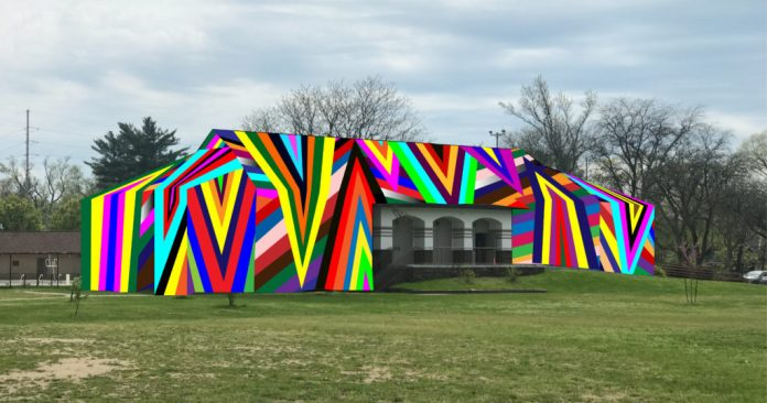 "rendering of Project 1 installation ""Kaleidoscopic"" at MLK Park by Amanda Browder"