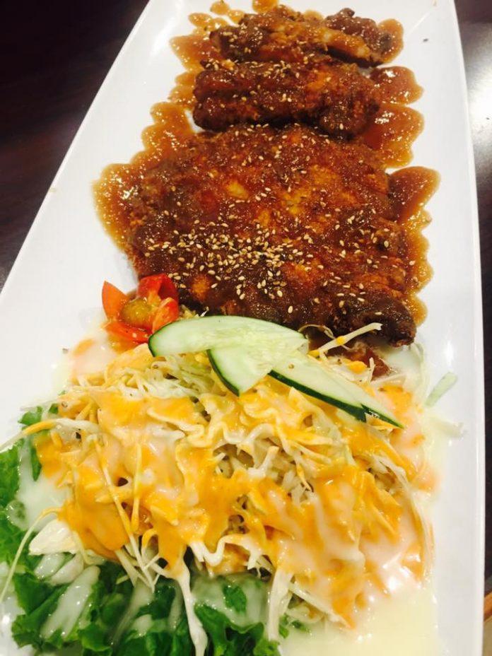 Emonae Korean BBQ tonkatsu plate