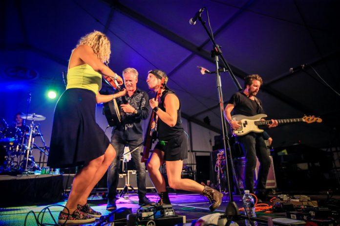 Michigan Irish Music Festival band on stage