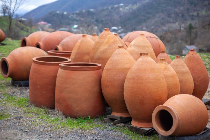 Qvevri or traditional Georgian wine jugs