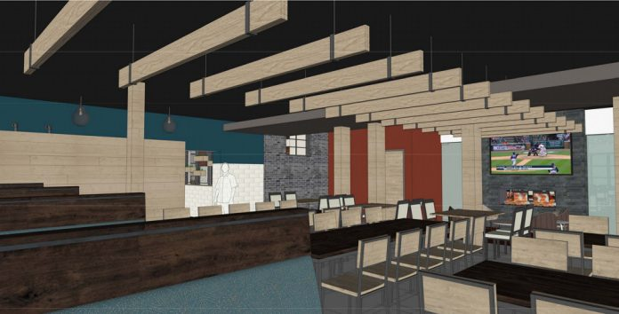 Brann's Leonard Street NW renovation rendering partial interior