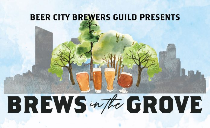 Brews in the Grove 2019 poster