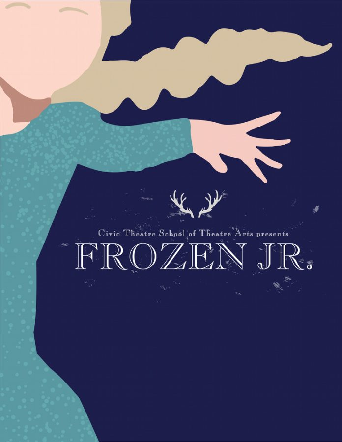Frozen Jr. musical poster Grand Rapids Civic Theatre
