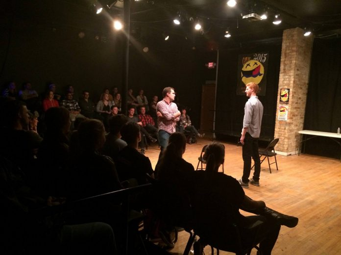 Grand Rapids Improv Festival stage and audience 2015