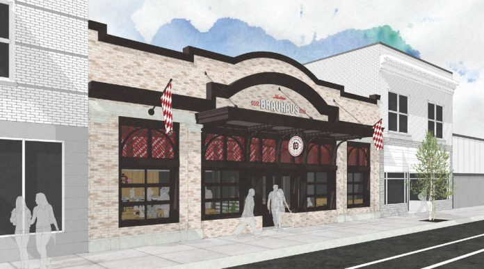 Cedar Springs Brewing Company Kusterer Brauhaus West Side beer hall exterior rendering