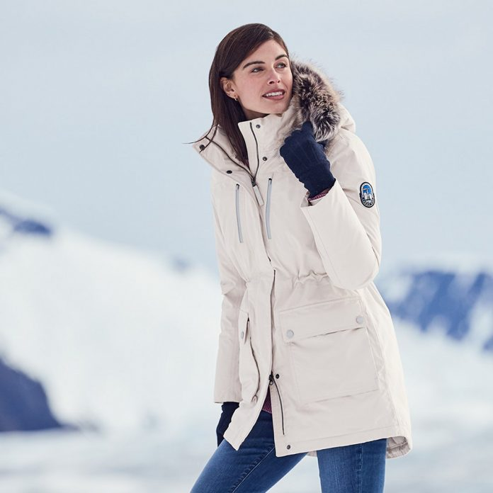 Lands' End expedition parka female model