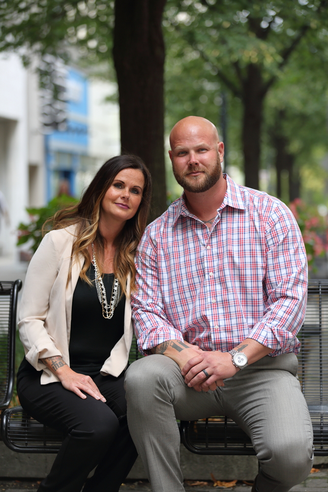 Tara Johnson-Brower, left, and Jesse Johnson-Brower