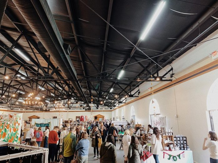 Mellwood Art and Entertainment Center market interior partial