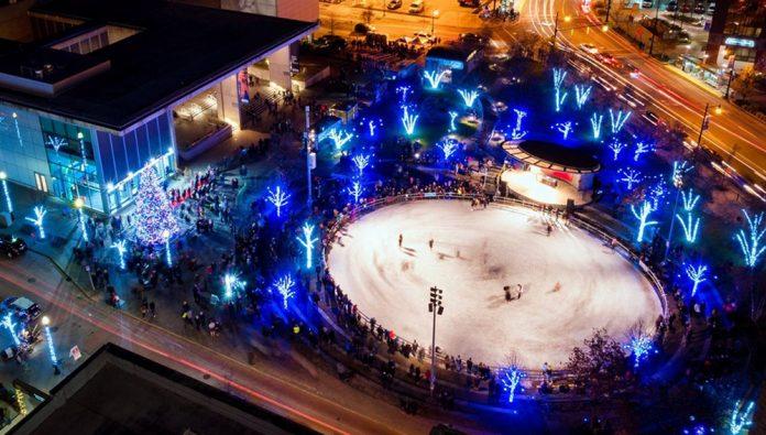 Rosa Parks Circle ice rink