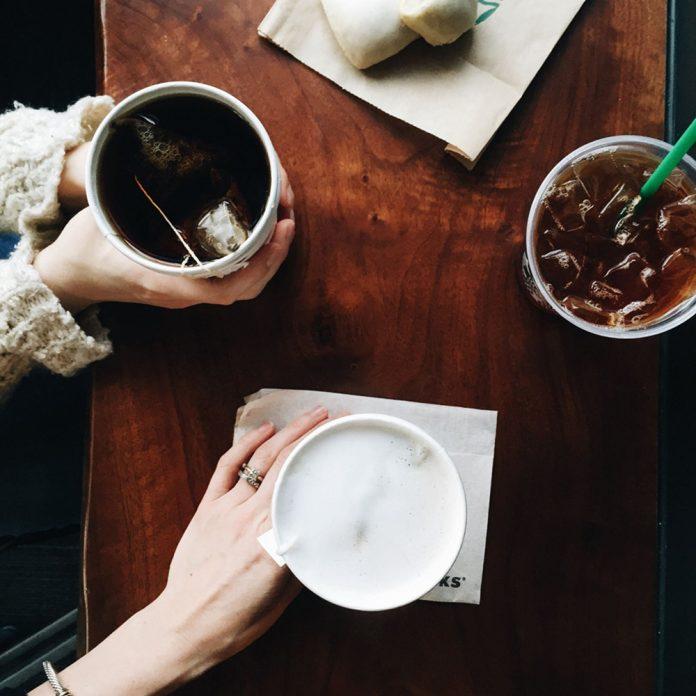 Starbucks table coffee drinks