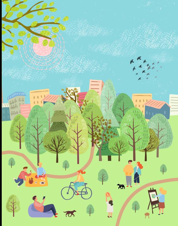 city urban park illustration