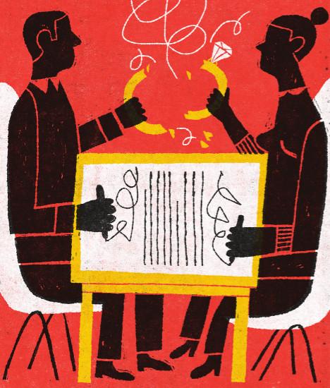 collaborative divorce illustration