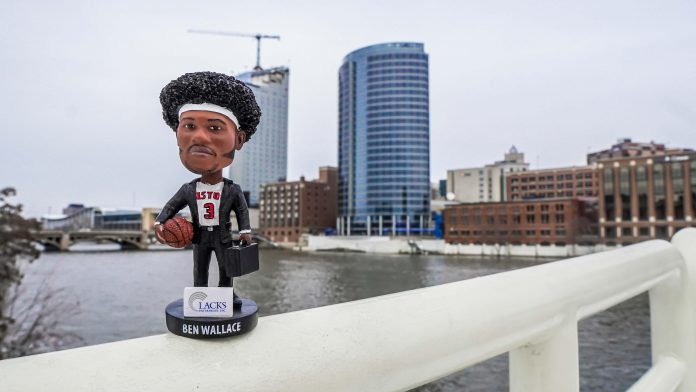 The first 1,000 fans will receive a Ben Wallace bobblehead during Saturday's Grand Rapids Drive game.